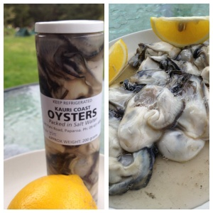 Lovely local Kaipara Oysters with home grown lemons